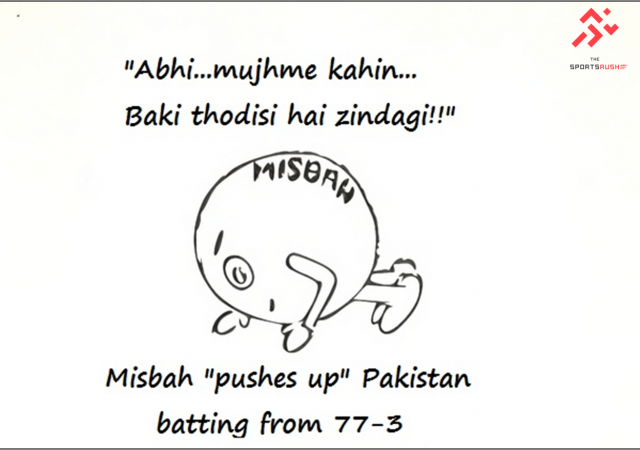 Misbah 'pushed up' Pakistan from 77-3