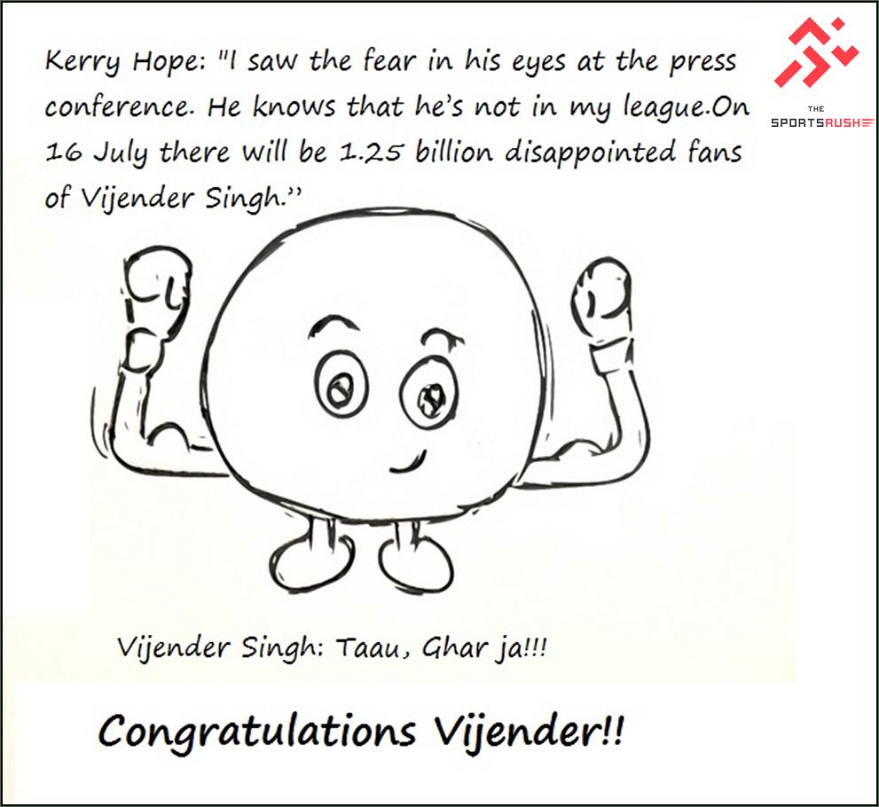 Vijender Singh crushes Hope