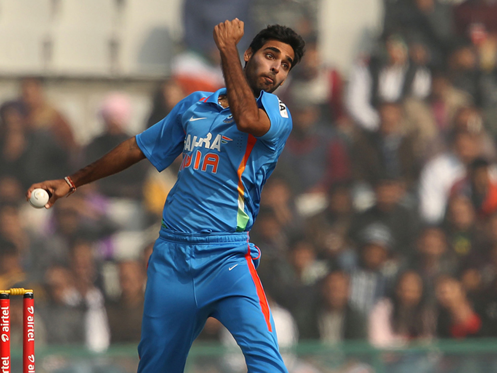 Bhuvneshwar Kumar and David Willey engage in an altercation during the  India-England 1st T20I | The SportsRush