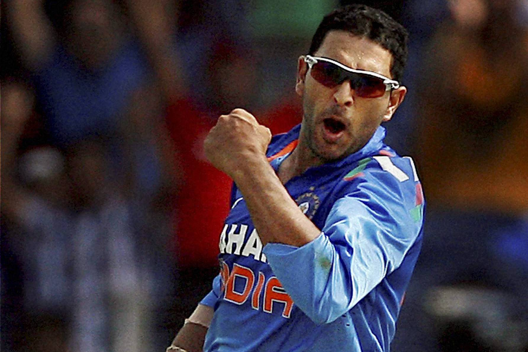 Experienced left-handed batsmen Yuvraj Singh and Shikhar Dhawan have been named in a 15-man India squad for the upcoming three-match series.