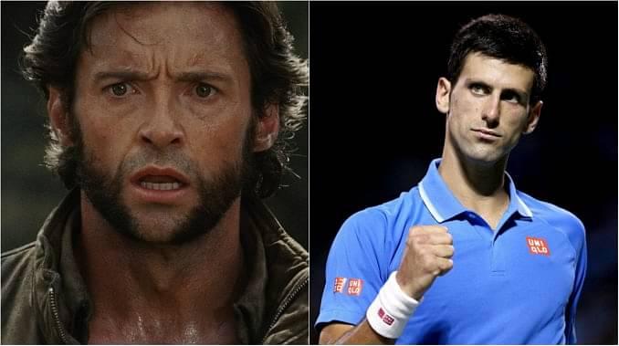 Novak Djokovic and Hugh Jackman