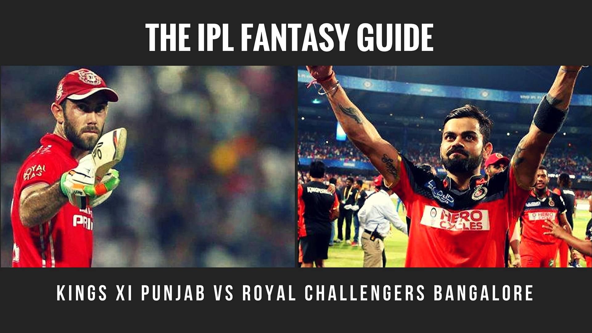 Fantasy Tips for Kings XI Punjab vs Royal Challengers Bangalore