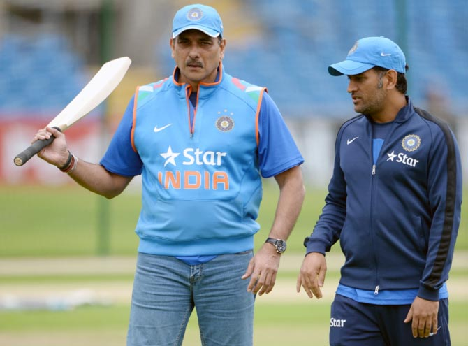 Ravi Shastri lashes out at MS Dhoni's critics