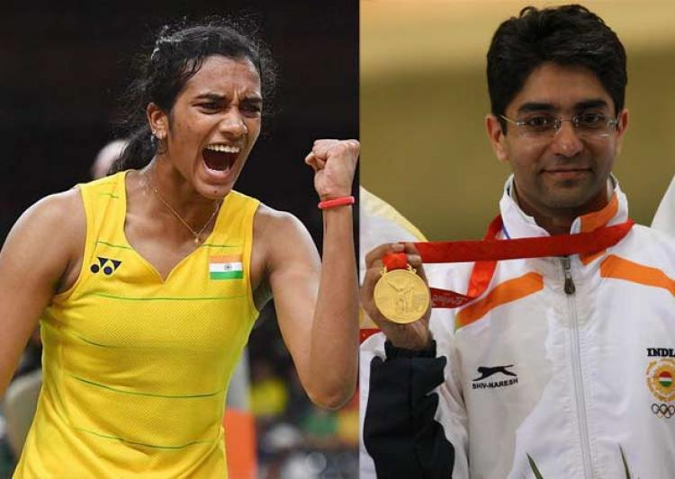 PV Sindhu and Abhinav Bindra Source: India TV