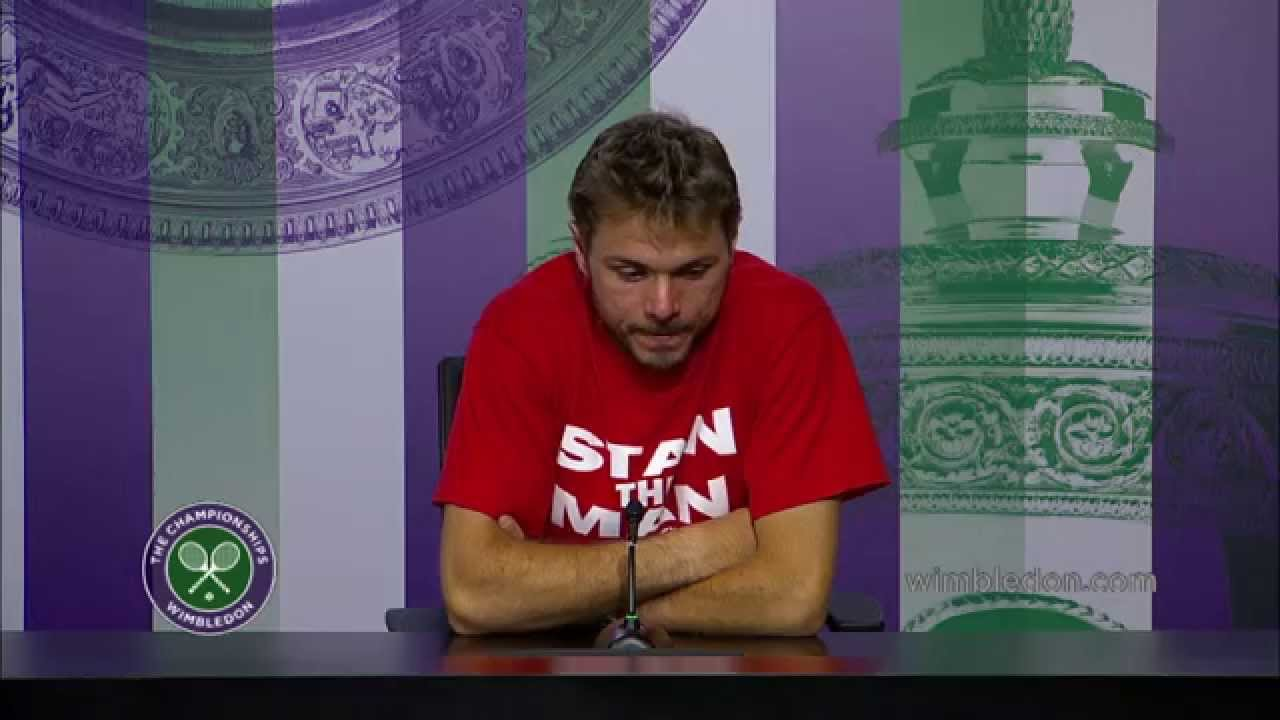 Stanislas Wawrinka is distraught