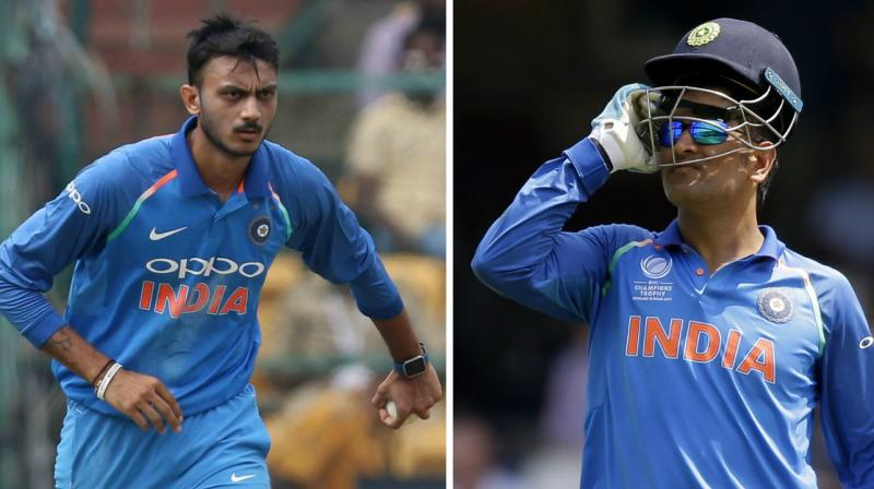 MS Dhoni's valuable tips to Axar Patel