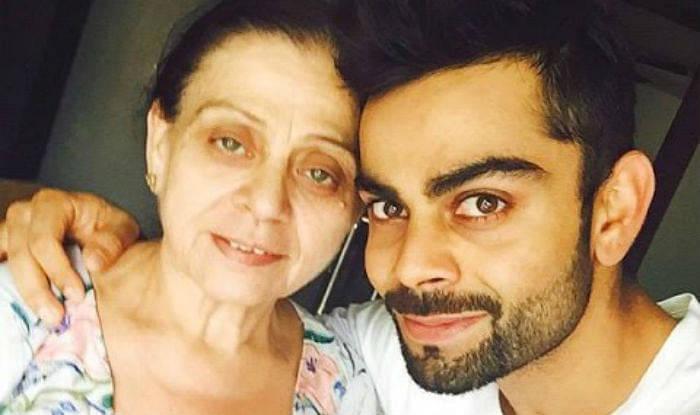 Kohli with mom
