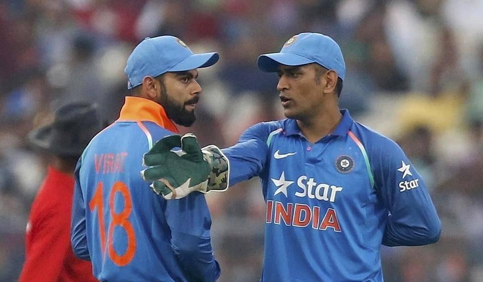 MS Dhoni and Virat Kohli Credits: Hindustan Times