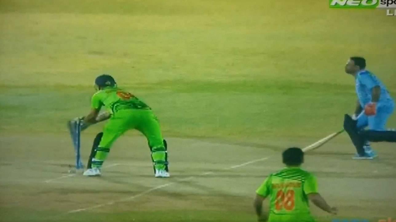 Strange dismissals in UAE T20 league