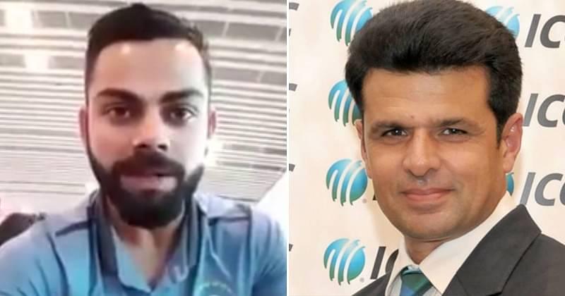 Virat Kohli and Aleem Dar Source: IndiaTimes