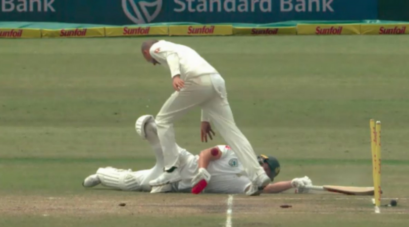 Nathan Lyon dropping the ball on AB de Villiers