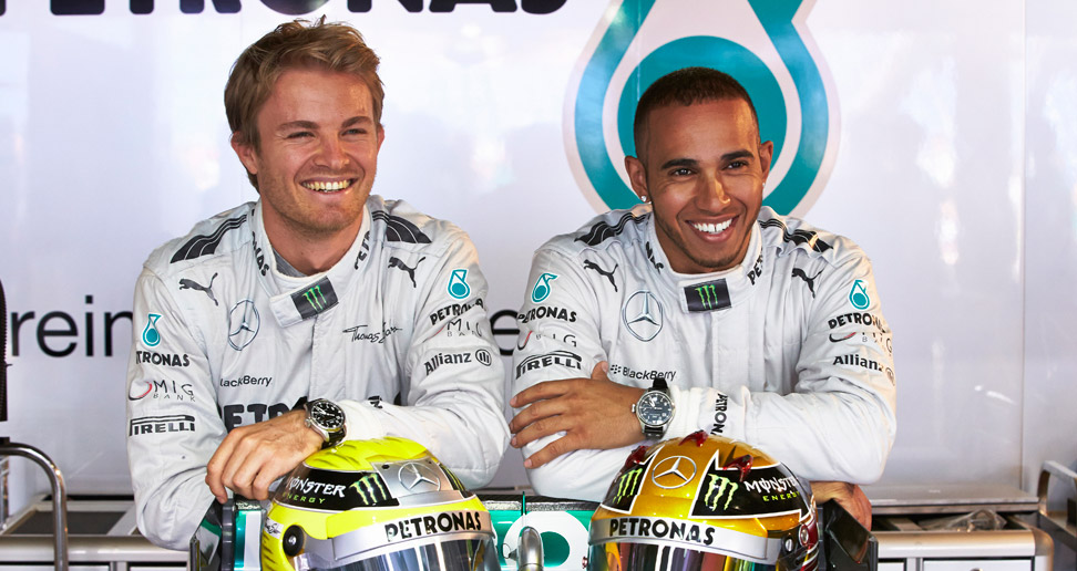 Rosberg on Hamilton Source: Pinterest
