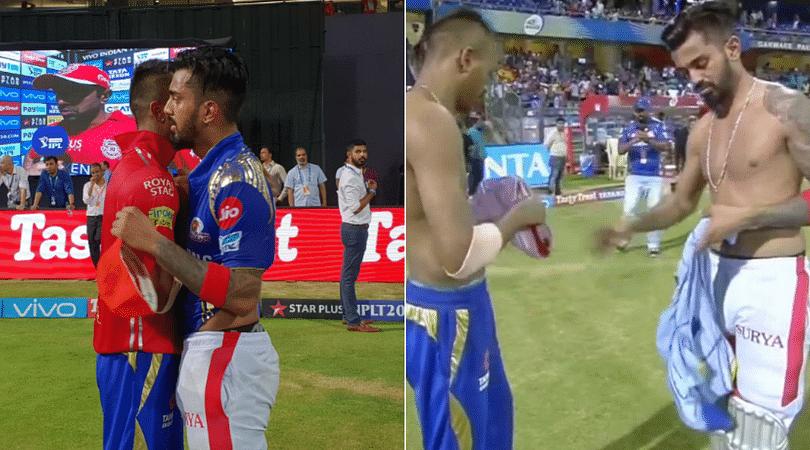 KL Rahul and Hardik Pandya swap jerseys after MI-KXIP match