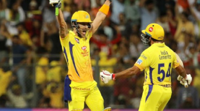 Faf du Plessis's posts Thank you note after CSK's win against SRH