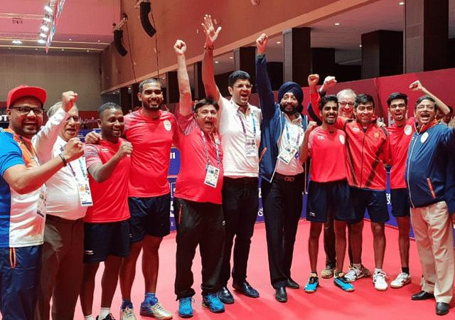 Indian Men's Table Tennis team secure bronze medal