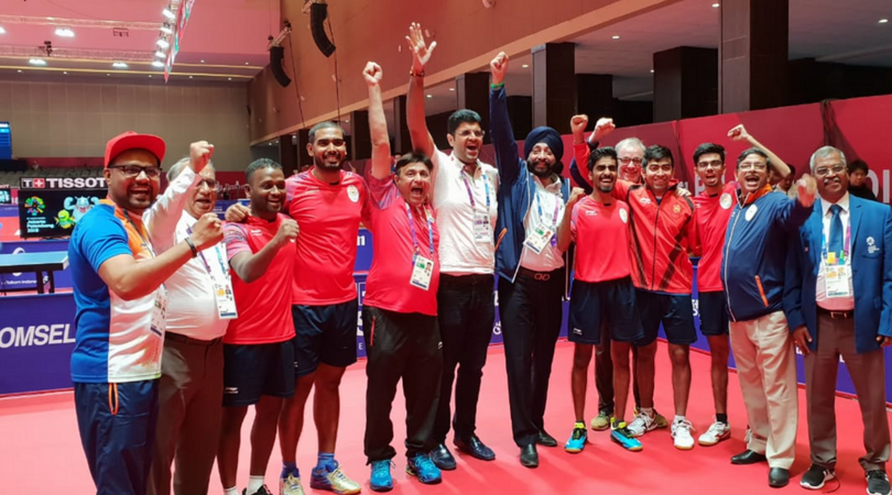 Indian Men's Table Tennis team secure bronze medal