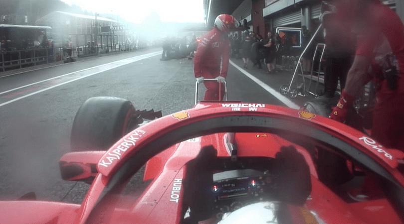 Vettel cursing his team during Spa