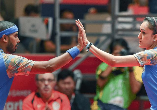 Manika Batra and Sharath Kamal secure bronze