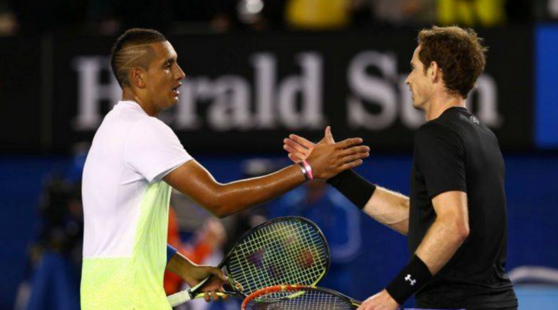 Murray pokes fun at Nick Kyrgios