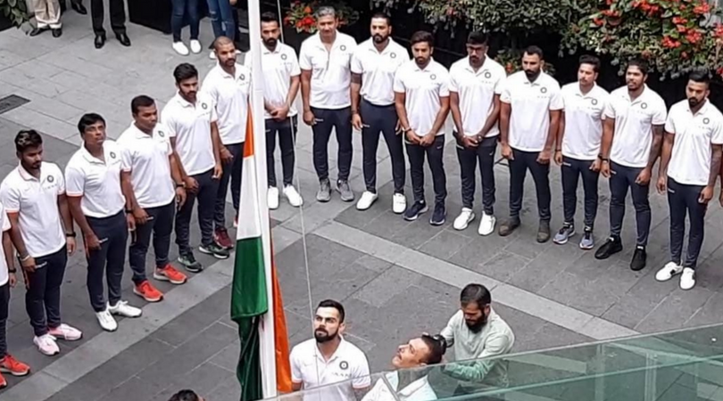 Indian team celebrating Independence Day in England