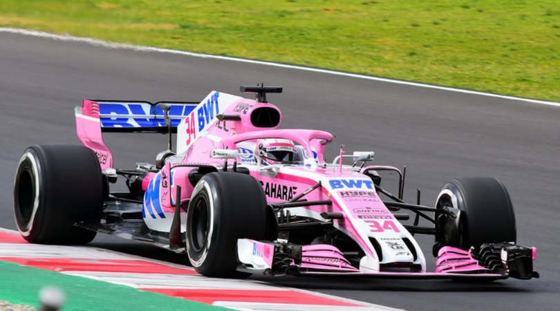 Force India social media account on Perez
