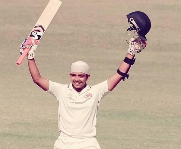 Prithvi Shaw on his maiden Test century