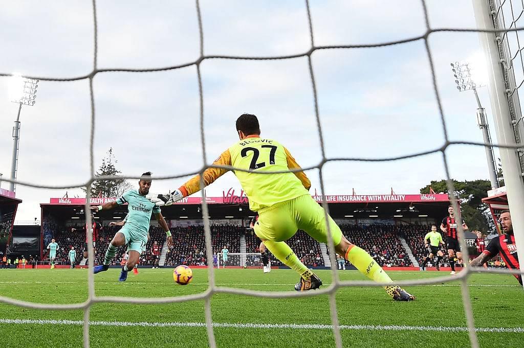 Aubameyang goal vs Bournemouth