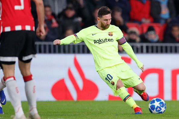 Messi goal vs PSV Eindhoven