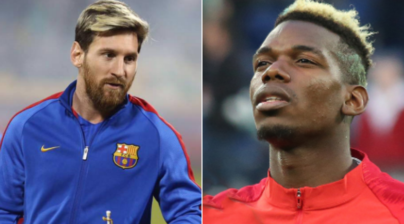 Paul Pogba and Lionel Messi