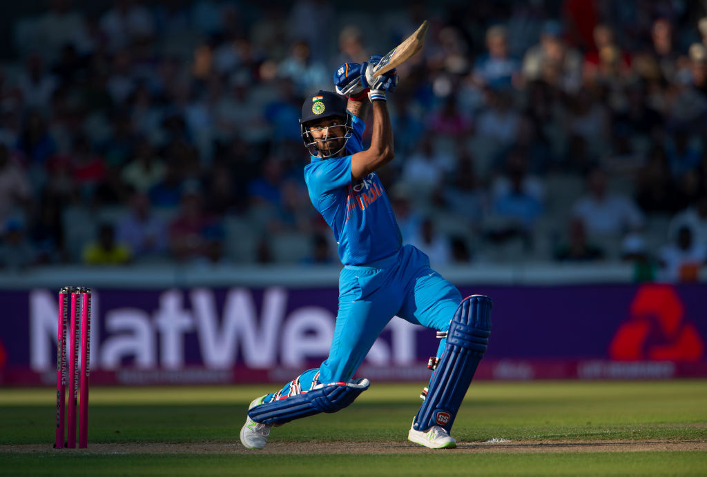 Lokesh Rahul bats with wicket