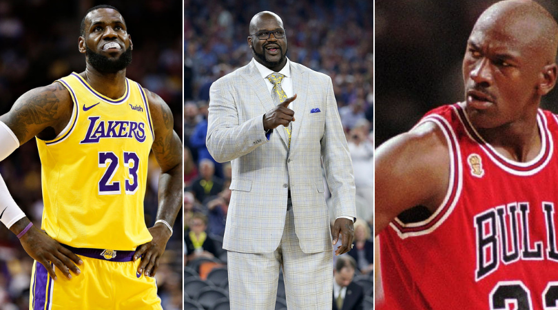 abajo virtual Conquistador  Shaquille O'Neal weighs in on the Jordan vs LeBron debate | The SportsRush