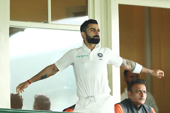 Virat Kohli picks a wicket vs CA XI