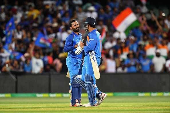 Dinesh Karthik on MS Dhoni's Adelaide innings