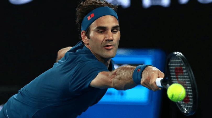 Roger Federer's insane backhand winner in Australian Open 1st round