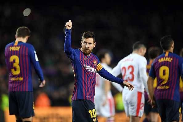 Messi's comparisons with Vinicius