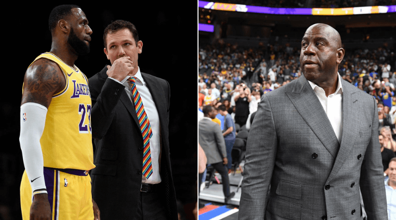 Report: Magic Johnson and Jeanie Buss with differing opinions on Luke Walton sacking