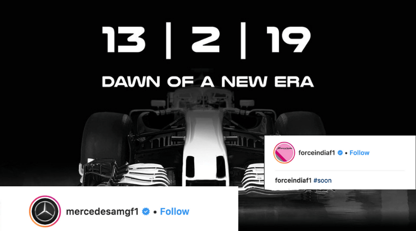 Racing Point release first look of 2019 car, Mercedes with a brilliant reply