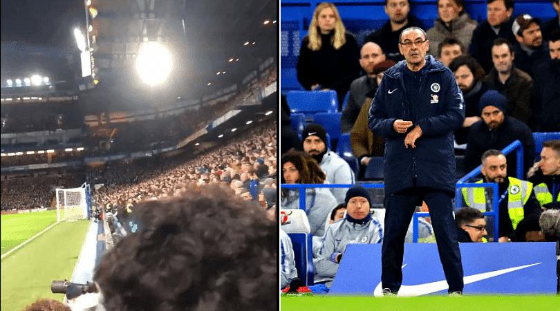 Chelsea fans chant Fuck off Sarri