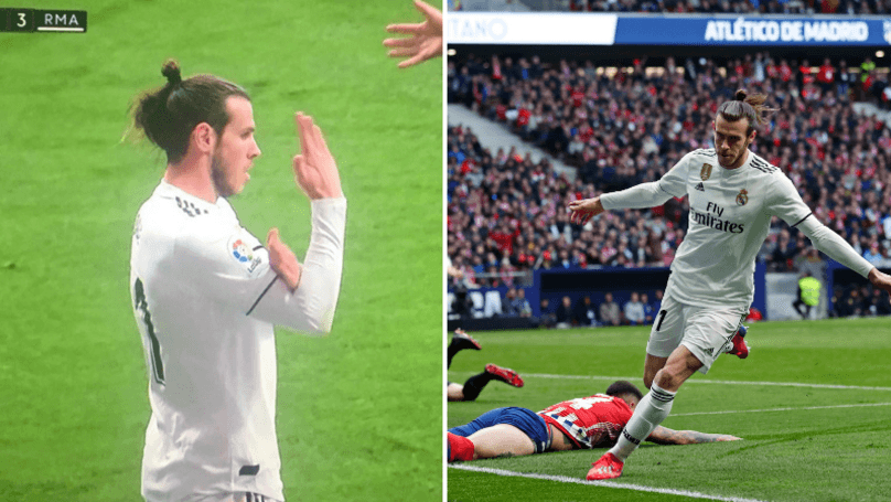 Gareth Bale goal celebration