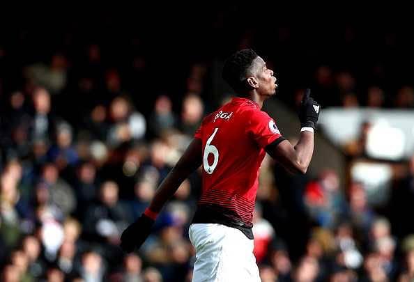 Paul Pogba's record in league