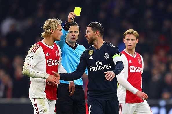 Sergio Ramos yellow card
