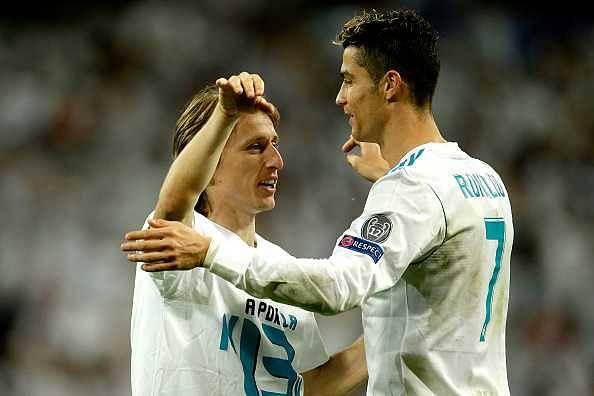 Cristiano Ronaldo and Luka Modric