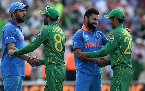 Moin Khan bats for Pakistan beating India