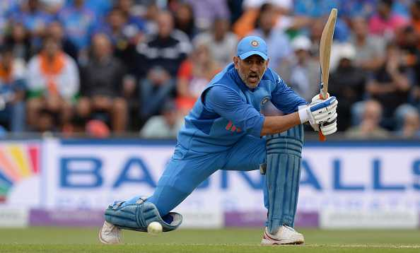 Dhoni bats in the nets ahead of Australia series
