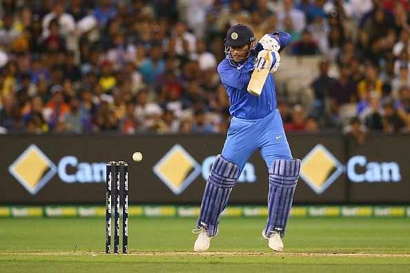 MS Dhoni bats in nets ahead of 5th ODI