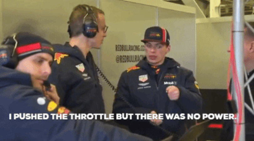 WATCH: Max Verstappen appears to be saying there is no power