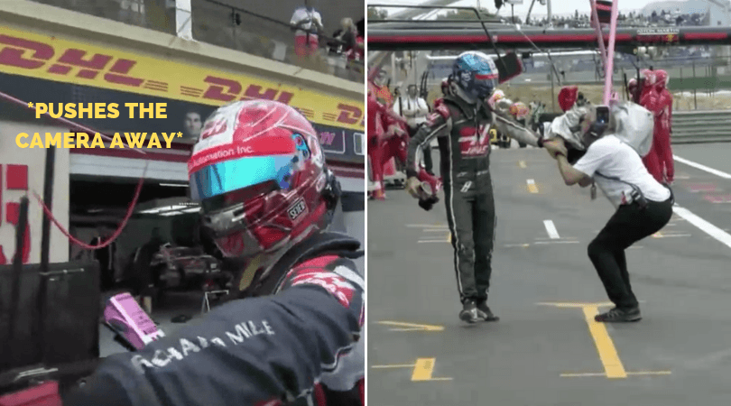 WATCH: Grosjean pushing the camera in Netflix F1 trailer is actually him being the good guy