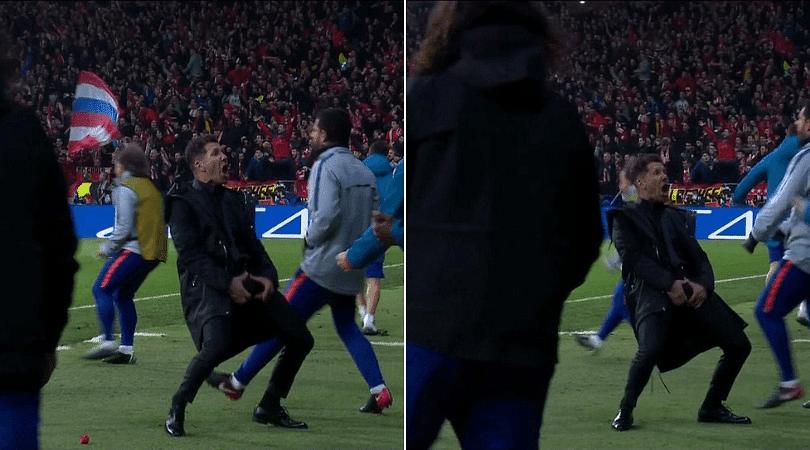 Diego Simeone celebrates wildly