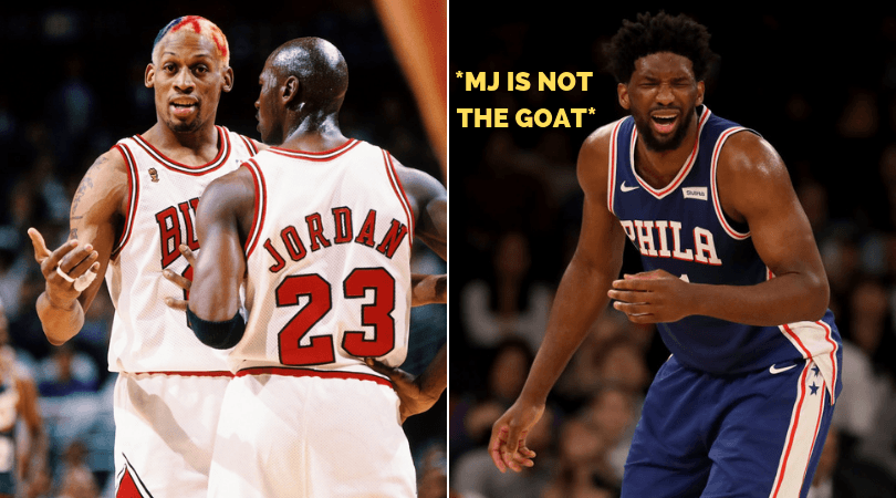 Dennis Rodman tells Joel Embiid to 'shut the f**k up' over Michael Jordan GOAT comment