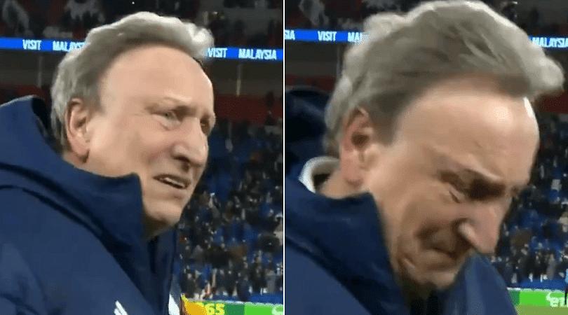 Neil Warnock in tears